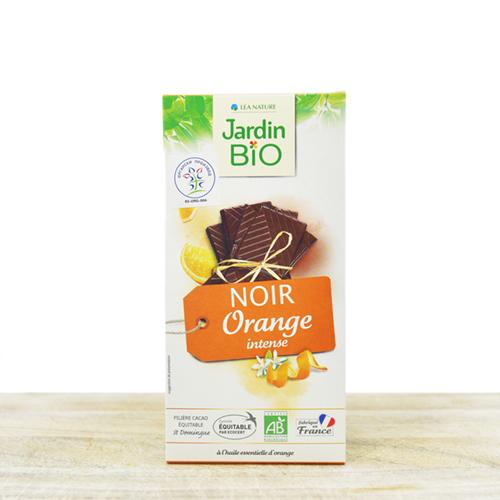 Organic black chocolate with orange 100g