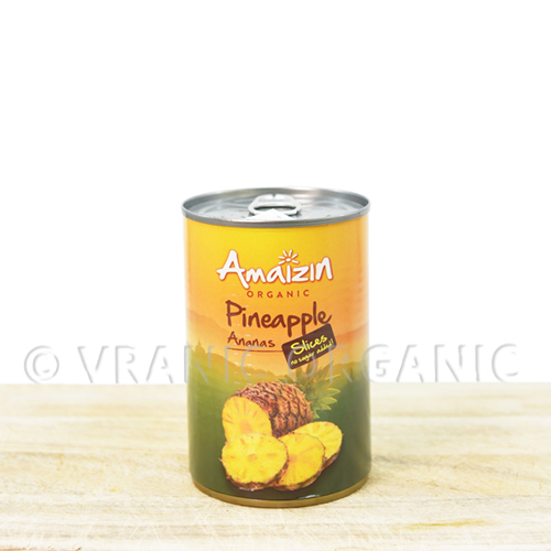 Organic pineapple in a can 400g
