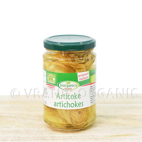 Organic artichokes in vinegar 280g