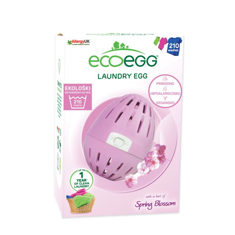 ECOEGG Natural, environmentally friendly, hipoalergenic laundry detergent  (Spring Blossom - pack for 210 washes)