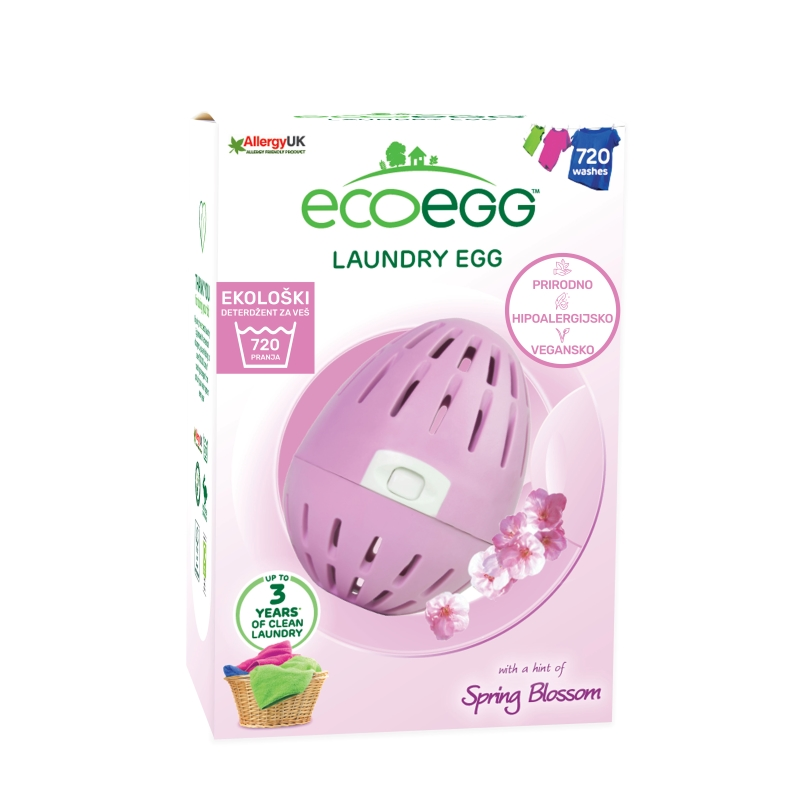 ECOEGG Natural, environmentally friendly, hipoalergenic laundry detergent  (Spring Blossom - for 720 washes)