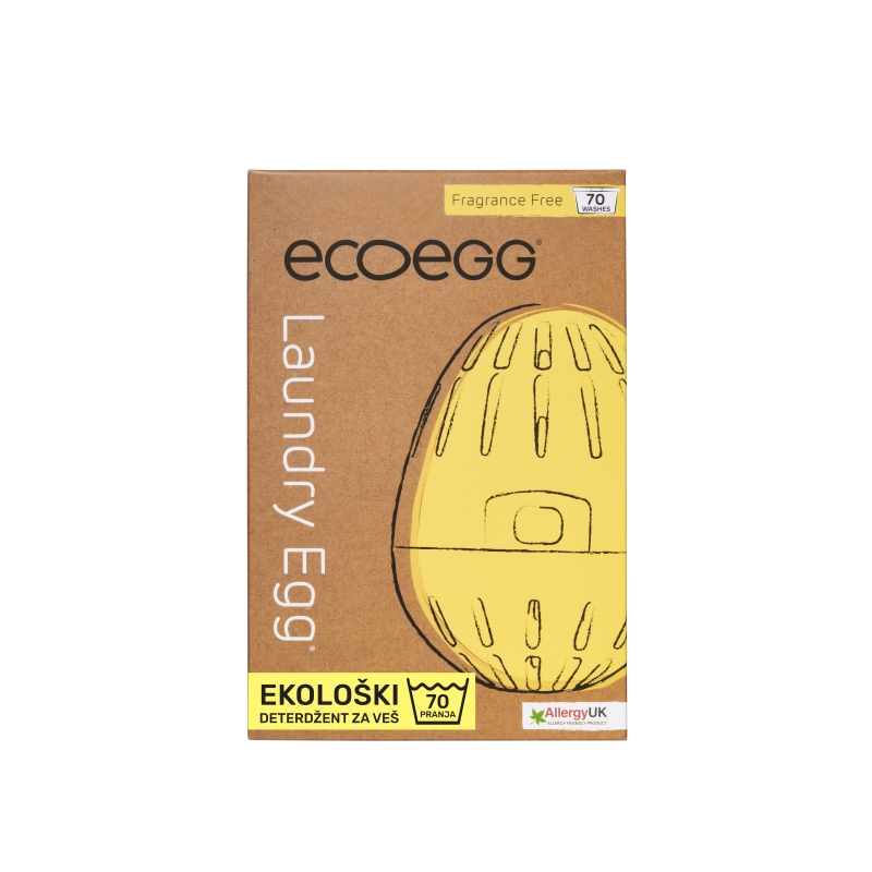 ECOEGG Natural, environmentally friendly, hipoalergenic laundry detergent (Fragrance Free - for 70 washes)
