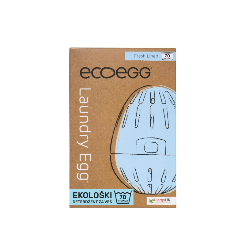 ECOEGG Natural, environmentally friendly, hipoalergenic laundry detergent (Fresh Linen - pack for 70 washes)