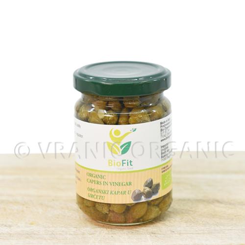 Organic caper in vinegar 140g
