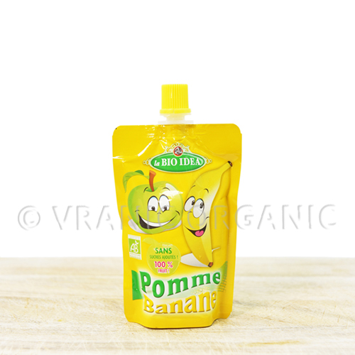 Organic banana mash for kids (100g)