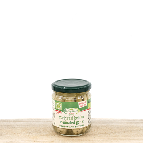 Marinated Organic Garlic in Sunflower Oil 190g Biodynamic product
