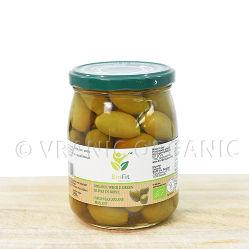 Organic olives with bones 550g