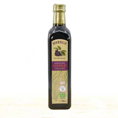Cold Pressed Organic Aronia Juice 500 ml