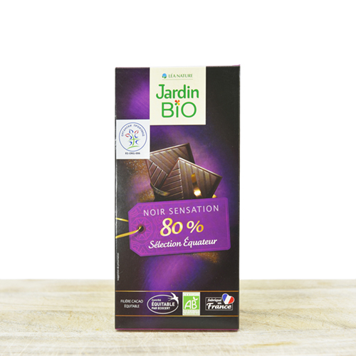 Organic black chocolate 80% cocoa 100g