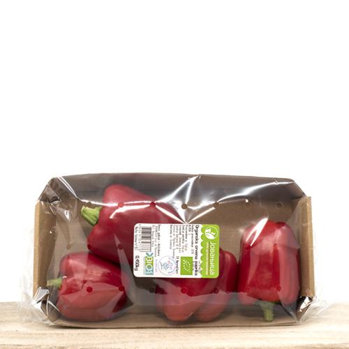 Fresh Organic Sweet Red Peppers in pack (450grams)