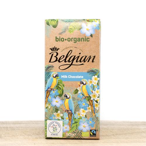 Begijska organska mlečna čokolada 90g