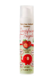 Organic Baby Tooth paste (0-36 months) - strawberry flavor (50ml)