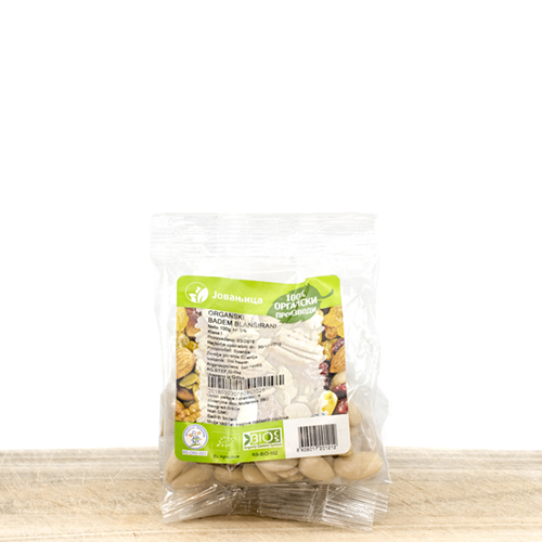 Organic Almond Blanched in Pack 100g