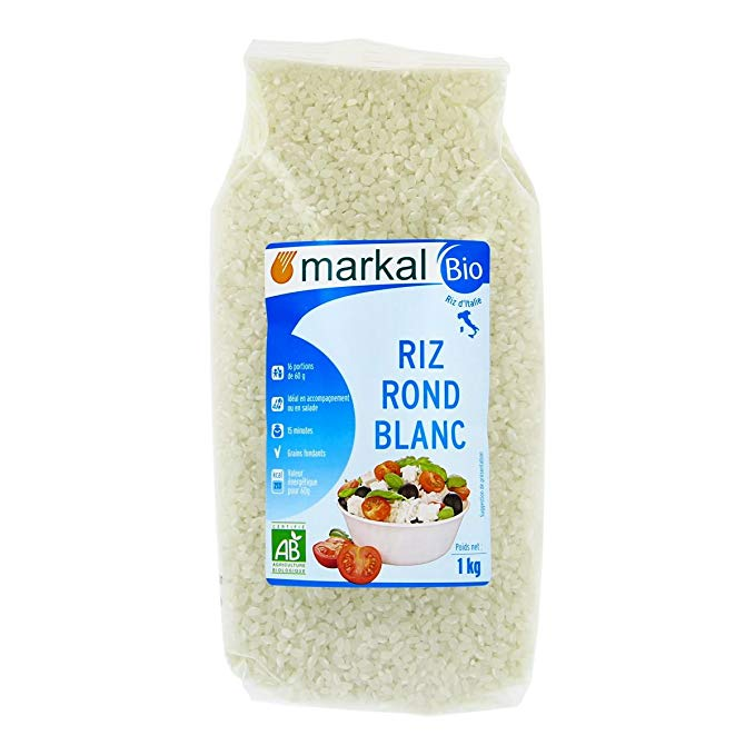 Organic white rice (pack 1kg)