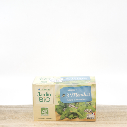 Organic tea 3 menthes (pack 20 pieces)
