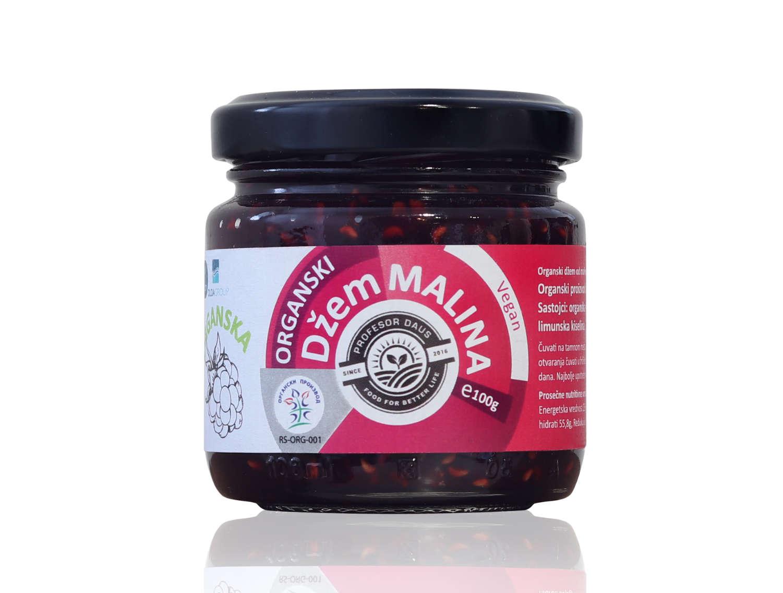 Organic raspberry jam 100g