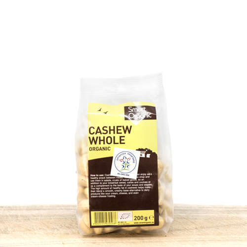 Organic Whole Cashew - in Pack 200g