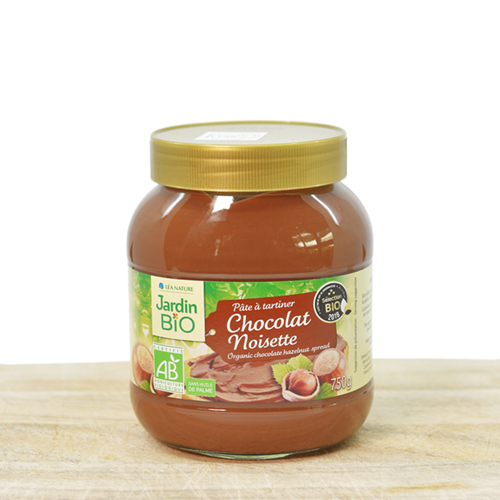 Organic cocoa spread with haselnuts 750g