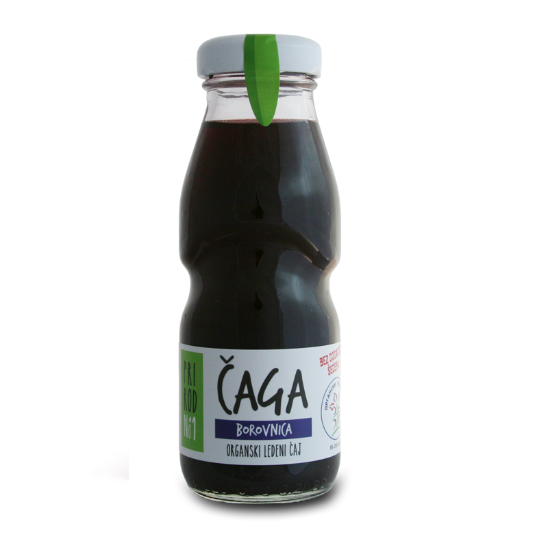 Organic ice tea chaga and blueberry 200ml