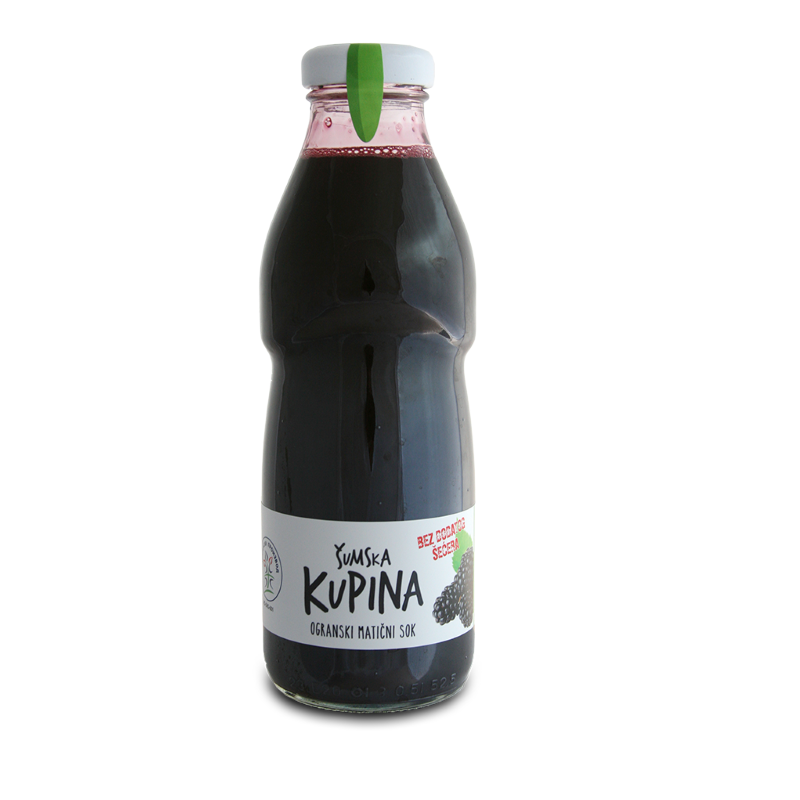 Cold pressed organic forest blackberry juice 500ml
