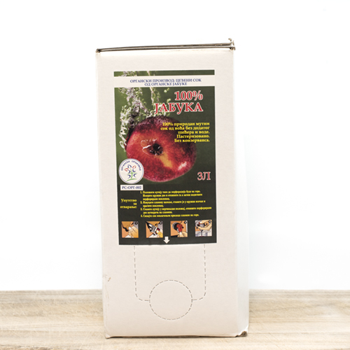 Organic Coldpressed Apple Juice 3l