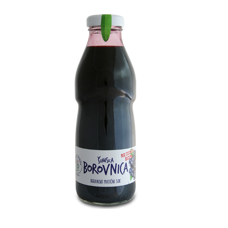 Cold pressed organic forest blueberry juice 500ml