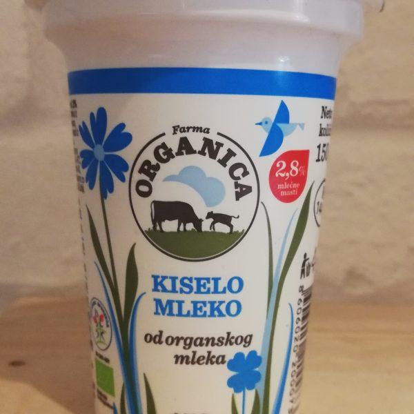 Organsko kiselo mleko u čaši 2,8% mm (150g)