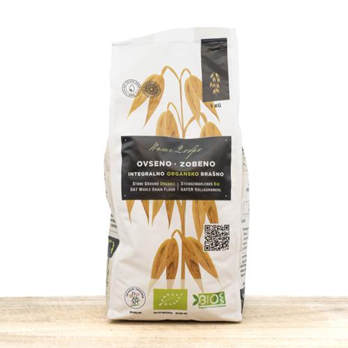 Organic Whole Grain Oat Flour (pack 1kilo)