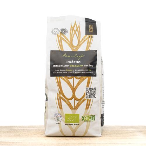 Organic Whole Grain Rye Flour 1kg