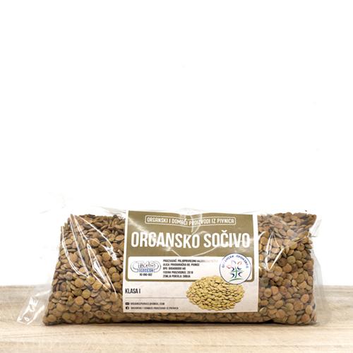 Organsko sočivo domaće u pakovanju od 500 grama