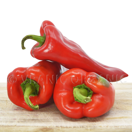 Fresh Organic Sweet Red Peppers (pack 400g)