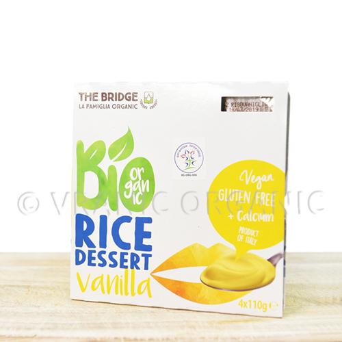 Organic rice dessert with Vanila 4x125g