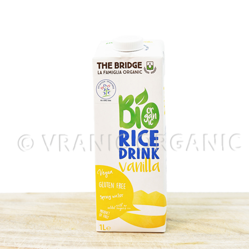 Organic rice drink with vanila 1l