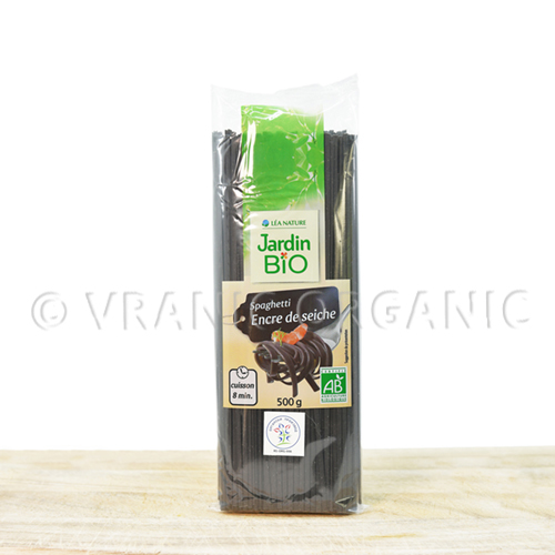 Organic spaghetti with wheat & cuttlefish ink 500g