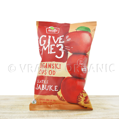 Organic sweet apple chips 40g
