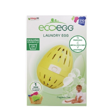 ECOEGG Natural laundry detergent, Fragrance Free - for 210 washes