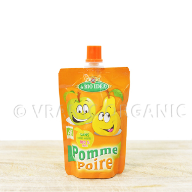Organic pear & apple mash for kids (100g)