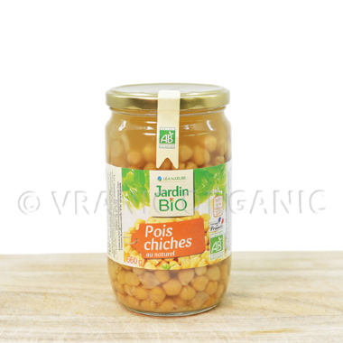Organic chickpeas in own juice 660g