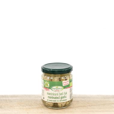 Marinated Organic Garlic in Sunflower Oil 190g