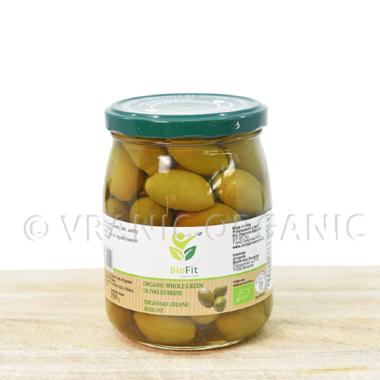 Organic olives with bones 550g