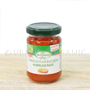 Organic spread with aubergine 140g