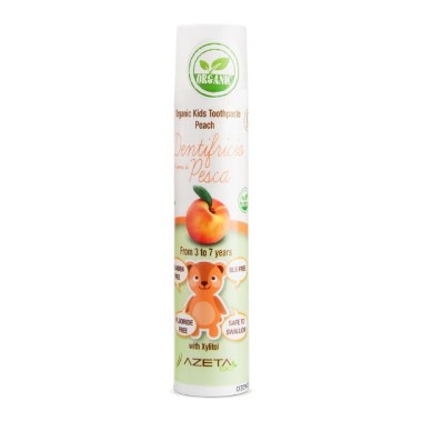 Organic Toothpaste for Kids - Peach (3-7 years) 50ml