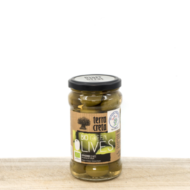 Organic Whole Green Amfissa Olives 290g