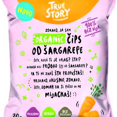 Organski čips šargarepa 20g