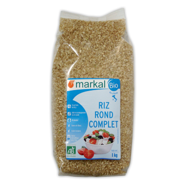 Organic whole grain rice (pack 1kg)