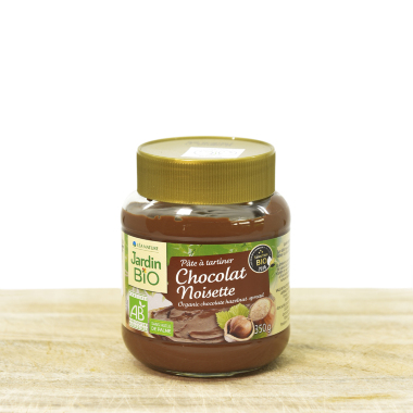 Organic cocoa spread with haselnuts 350g