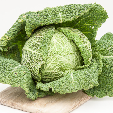 Organic Savoy Cabbage (per kilo)