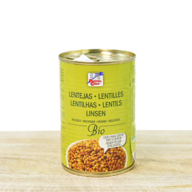 Bio lentils in can 400g