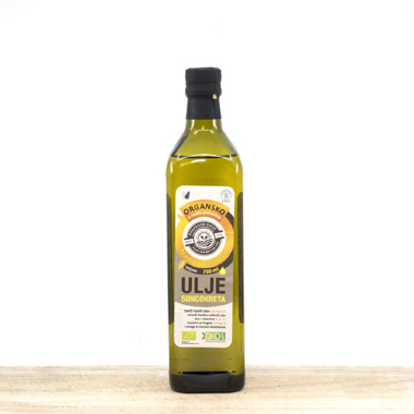 Organic sunflower oil 0.75l