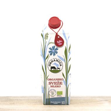 Organsko mleko sveže 1l